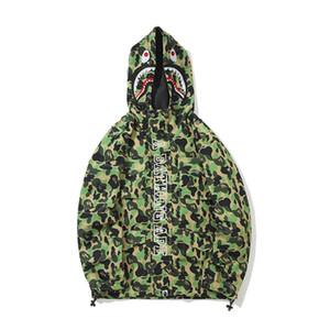 가을 뉴 타이드 브랜드 애인 루스 후드 카모 윈드 브레이커 자켓 남성 카디건 캐주얼 얇은 자켓 코트
