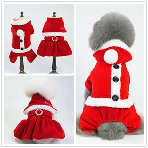 Weihnachten Haustier Hund Kostüme Herbst Winter Teddy Puppy Dog Weihnachten Kleidung Weihnachten Hund transformiert Kleid Santa Suit