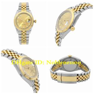 15 Estilo Movimiento CAL.3235 real envuelta de oro 18k nunca se descolora para hombre Datejust 36MM GM V3 904L acero Champagne Dial 126.233 relojes del reloj