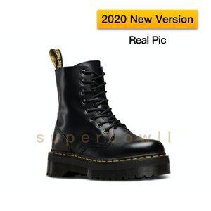 Yükseltildi Sürüm Kadınlar Patik Doc Martens Platformu Sole Sarı Dikiş Ve Bir Topuk-Döngü jadon Martin Boots Kadınlar Patik