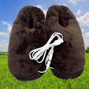 Portable Cold Relief USB Heating Shoes Winter Home Pad Soft Feet Warmer Gift Electric Reliable Practical Heated Slipper