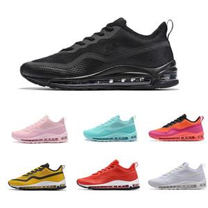 97 secuencia 3D refleja luz hombres mujeres zapatilla de deporte Mint Green Pink White Red Trainer Tennis Maxes zapatos exteriores