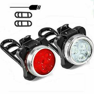 Bisiklet Işıklar Dağ Döngüsü Bisiklet Bisiklet Ön ışık Seti Şarj edilebilir USB LED'i