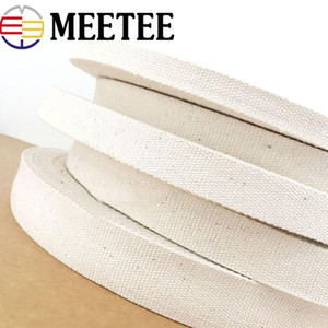 Meetee Canvas Cotton Webbing Ribbon 15mm-50mm for Bags Strap Belt DIY Craft for Clothing Home Decor Accessories AP321