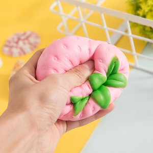 Mini Simulated Big Strawberry PU Doll Slow Rebound Decompression Toy Foam Relaxed Toy Decoration Soft Toy Cake Sample Model