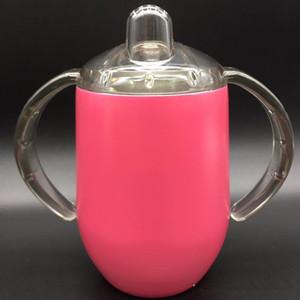 DHL hot sales 12 OZ Copo De Palha Ponderada Easy-Grip Lidar com copo de beber Os Primeiros Anos Tomar Toss copo à prova de Derrame