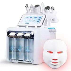 7in1 H2-O2 Multifunction Hydra dermoabrasão RF Bio-lifting Spa Facial Máquina do Aqua limpeza Facial água peeling máquina dermoabrasão