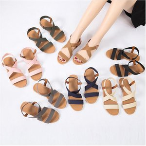2019 Women's Sandals Spring Summer Ladies Shoes Low Heel Anti Skidding Beach Shoes Peep-toe Casual Walking Flat Sandalias Female