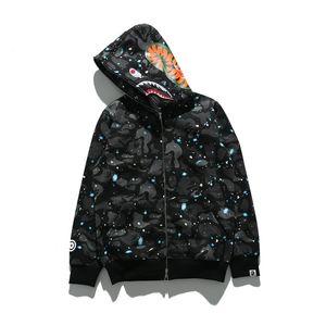En gros Nouveau Style Marque Hommes Femmes Starry Sky Noir Chandail Lumineux Hommes Grande Taille Coton Hip Hop Hoodies