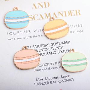 Food Hamburger esmalte banhado a ouro Cor Encantos Pingentes para Cadeia Handmade DIY colar brincos Key Bracelet Jóias Fazendo Acessórios