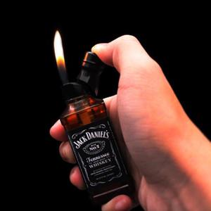 Mini Red Wine Bottle Design Novelty Lighter Kitchen Giant Heavy Duty Refillable Gas Lighter for Smoking IN STOCK