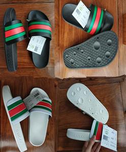 Hombres Mujeres sandalias 2019 huaraches de goma casuales zapatillas mocasines de moda pisos de cuero marca sandalias 36-45