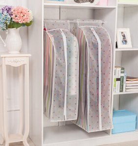 Transparent Clothing Dust-proof Storage Dag Dot Stripe Pattern Double Zipper Overcoat Suit Cover Wardrobe Hanging Bags