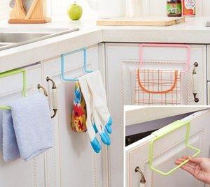 Toallero de puerta Barra de barra Soporte colgante Organizador de riel Armario de baño Armario Colgador Accesorios de cocina DTT88