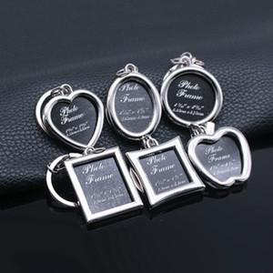Творческий мини Photo Frame Metal Key Chain Сердце Key Chain Свадебное фото Сувенир для детей Рамки для фото