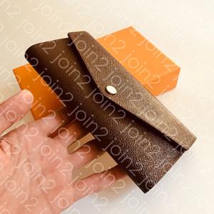 CARTERA SARAH PORTEFEUILLE. Titular de la tarjeta Monedero largo del estilo del sobre para mujer de alta calidad de la manera Caso icónico Brown impermeable lienzo M60531 Sac