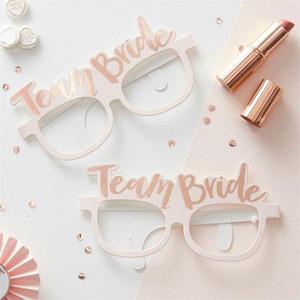 10pcs / lot Wedding Shower Papel Vidros do casamento Decoração nupcial Noiva a ser Hen Party Girl Party Decoration Óculos
