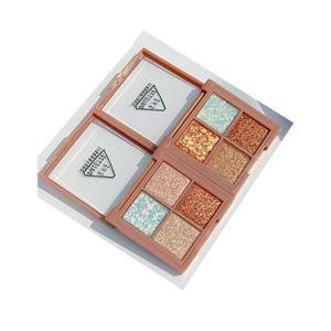 4 Farbe Perlglanz glänzende Lidschatten-Palette Wasserdicht Empfindliche Matte Helle Augen-Schatten-bewegliche weiche Erhellen Eye Shadow Box