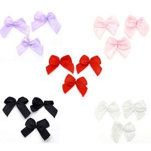 Hot 200PCs White Grosgrain Ribbon Bows Wedding Dress Scrapbooking Embellishment Sewing Accessories Hair Accessories 25x20mm