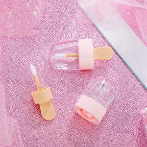 Pink Empty Lip Gloss Tube Containers Cream Jars DIY Make Up Tool Cosmetic Ice Cream Transparent Lip Balm Refillable Bottle