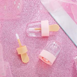 Rosa Vazio Lip Gloss Recipientes De Tubo Creme Frascos DIY Make Up Ferramenta Cosméticos Sorvete Transparente Lip Balm Recarregável Garrafa