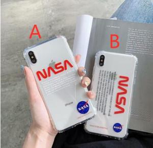 아이폰 11 프로 최대 6 S 7 6S 7plus 8 8plus X XR XS 흰색 최대 전화 케이스 실리콘 덮개에서 공간 소프트 우주 비행사 NASA 미국 거리 트렌드