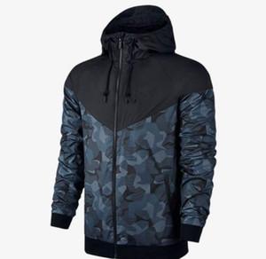 Plus Size Herren Jacken-Mantel Herbst SweatshirtHoodie Camouflage windundurchlässige lange Hülse, Marken-Entwerfer Hoodies Zipper Mens Kleidung mit Kapuze