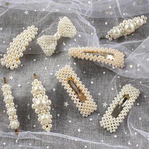 Neueste Freigegeben 10 teile / satz Mode Perle Haarspange für Frauen Elegantes Koreanisches Design Perle Metall Haarspangen Haarnadel Haar Styling Zubehör