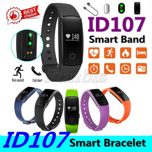 Android IOS Bileklikler için Nabız Spor Tracker Spor Bilek Saatler ile Akıllı İzle ID107 Bluetooth Smart Bilezik