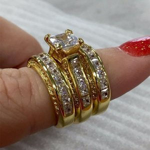 2019 mode anneau de déclaration élégante pour les femmes Sliver couleur de fiançailles de mariage de la mode des bijoux avec pleine brillant Cubiz Zircon bague de femme