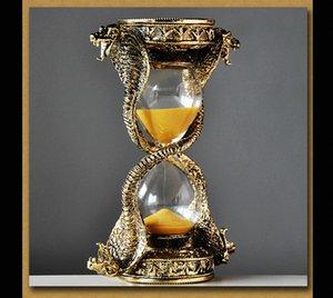Europe snake shape metal 15 minute hourglass timer home decorative hourglass sand glass clock sand A35