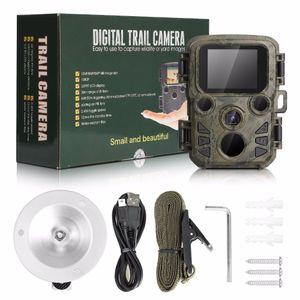 Photo-armadilha de imagens térmicas para a caça Escoteiro Mini Camera Chasse 12MP 1080P Night Vision Wildcats Hunting Camera Armadilha Com LCD