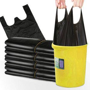 50pcs / lot Thicking Negro bolsas de basura basura bolsa de residuos cesta compartimiento de basura Bolsas de almacenamiento de cocina portátil desechable bolsa de residuos DBC BH3460