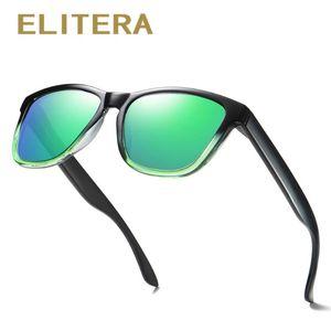 ELITERA Vintage Frame Polarzied Occhiali da sole Uomini di guida protezione Eyewear UV unisex Donne