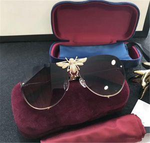 الجملة-- unglasses 2238 النظارات الشمسية للنساء الرجال نظارات الشمس المرأة العلامة التجارية مصمم طلاء الأشعة فوق البنفسجية حماية اللؤلؤ المسامير أزياء النظارات الشمسية