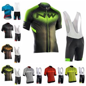 Nw 2019 Team Cycling Short Sleeves Jersey Bib Shorts Sets Mountain Bike Men Bike Sweatshirt 3d Gel Pad Wear K041004