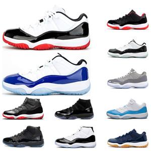 Nike air retro jordan 11 رجل أحذية كرة السلة 11S البيضاء ولدت CONCORD كول GRAY GAMMA الأسطورة الأزرق الكرز UNC 11 إمرأة حذاء رياضة الرياضة المدربين أزياء في الهواء الطلق