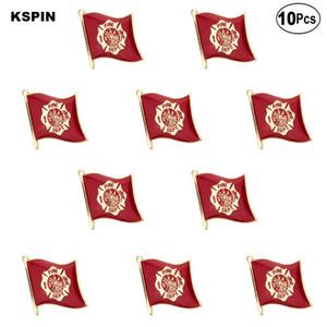 Feuerwehr Markierungsfahnen-Revers Pin Flagge Abzeichen-Brosche Abzeichen