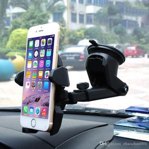 الزجاج الأمامي للسيارات حامل لوحة الهاتف حامل الهاتف العالمي خلية شفط جبل حامل قابل للسحب 360 درجة دوران لفون X سامسونج