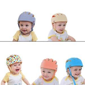 Bebê Crianças Andando Patinação Cabeça Protetor Chapéus Caps Safty Moda Ajustável Tecido de Algodão Headguard Crianças Meninos Meninas Capacete J190528