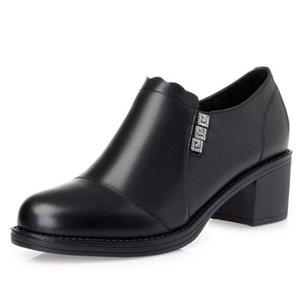 2020 New Fashion Rhinestone Genuine Leather Shoe Women Pumps Shoes Plus Velvet Warm Winter Shoes Fashion High Heels Snow Shoes
