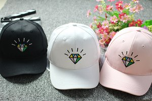 2020 Hot Selling Embroidery Adjustable Snapback Baseball Cap Diamond Leisure Sunscreen Hip Hop Baseball Cap Sunscreen hat