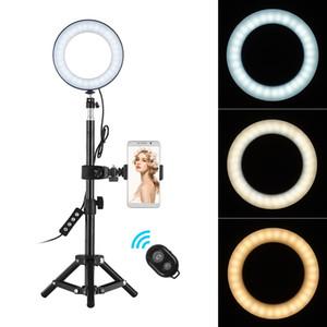 Luce Anello 6Inch dimmerabili Desktop selfie LED con il supporto della Telefonia Ringlight Per Video YouTube Live Photo Photography Studio