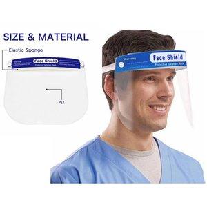 Face Shield Mask Anti-fog Isolation Full Protective Face Masks with Elastic Band Sponge Protection Anti Splash Masks IIA231