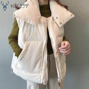 HXJJP Осень Зима женская новый корейский свободные вниз хлопок жилет женщины зима рукавов пальто жилет женский
