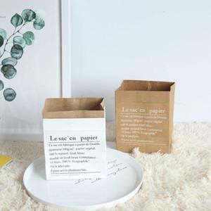 Bolsa de papel kraft para hornear a prueba de aceite Comida para llevar en blanco Envasado de alimentos Regalo de navidad Galletas de cocina Bolso para hornear