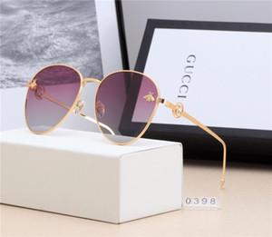 Gafas de sol de metal redondas Lente de cristal de destello dorado de diseñador para gafas de sol de espejo para mujer para hombre Gafas de sol redondas unisex envío gratis