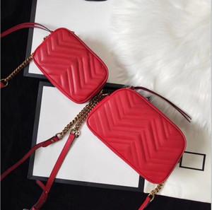 Kadınlar Messenger Çanta Çapraz Vücut Çanta PU Deri Mini Bayan Omuz Çantası Çanta Marmont 24cm 18cm