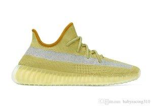 Top qualidade Crianças New Marsh v2 Shoes Kanye West Luz Traseira Homens mulheres Running Shoes loja com caixa frete grátis Tamanho 4-12