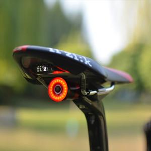 Xlite100 지능형 자전거 테일 라이트 USB 충전 LED 유도 브레이크 램프 방수 야간 경고 승마 액세서리